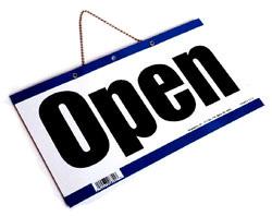 Officially open