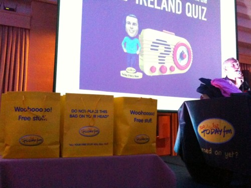 Sligo Quiz goodie bags
