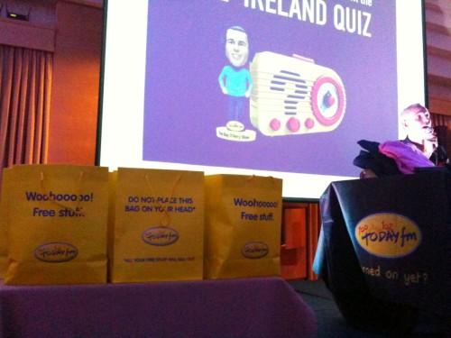 Sligo Quiz goodie bags