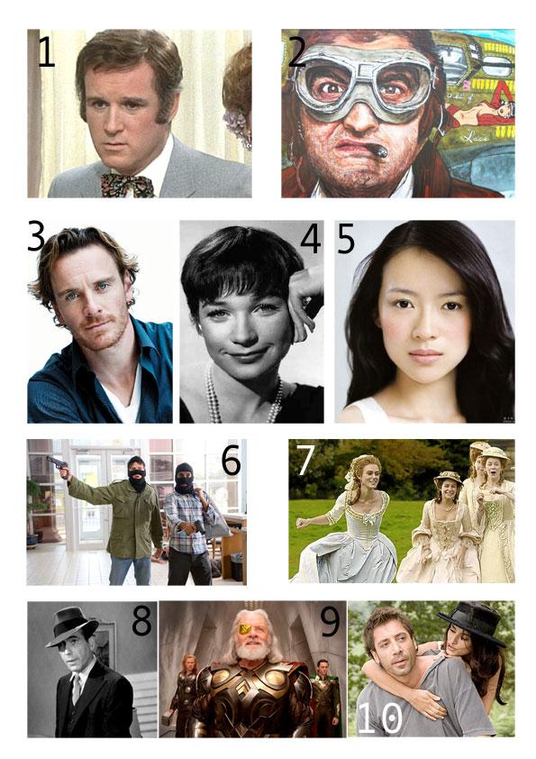 Old movie stars picture quiz